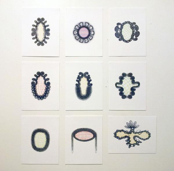 """Ellen Burchenal: """"Hotel Drawings"""", 2009-2012"""