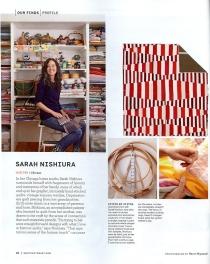 Sarah Nishiura in Martha Stewart Magazine