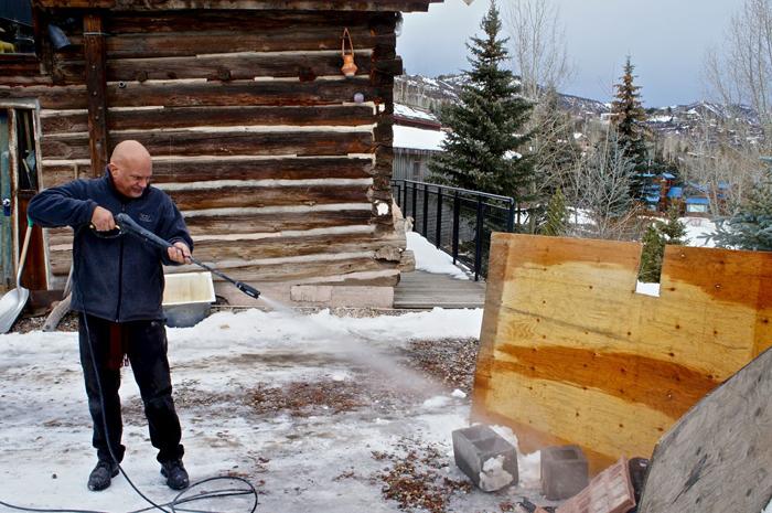 Daniel Dallabrida making art at Anderson Ranch Art Center, Snowmass Village, CO. (2012)
