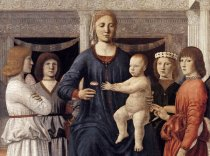 "Piero della Francesca, ""Virgin and Child Enthroned with Four Angels"" 1460-70"