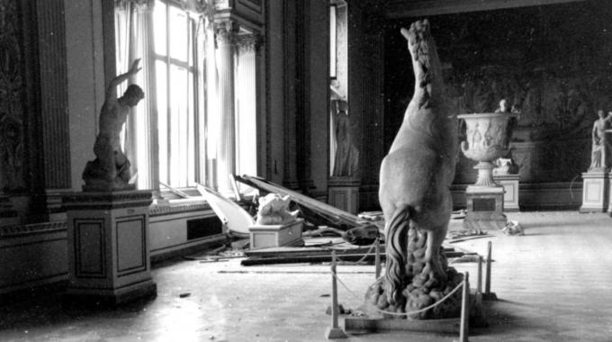 Damage at the Uffizi Gallery from the bomb of 1993 on Via dei Georgofili, Florence