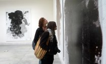 SACI students in a close observation of an artwork presented at the Central Pavilion of The Giardini at the Biennale of Venice 201