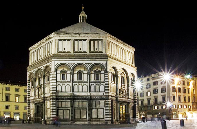 The Baptistery of Santa Maria del Fiore, Florence, Italy