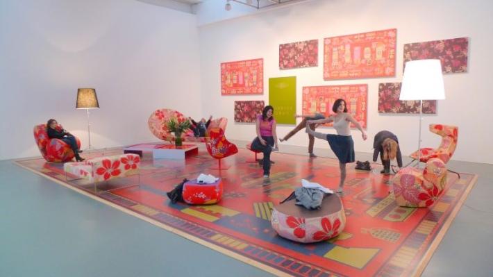SACI Students visiting a Michael Lin installation at the Centro per l'Arte Contemporanea Luigi Pecci in Prato