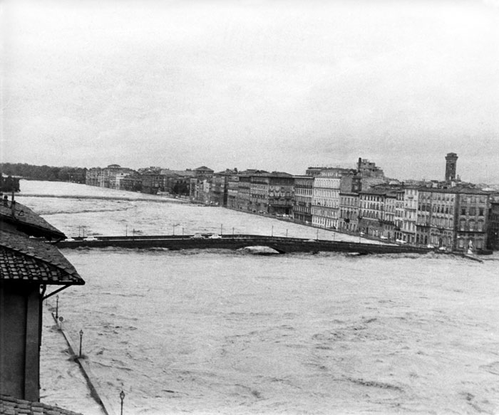 Photo of the Arno River, Florence Flood of 1966 © Nick Kraczyna