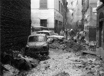 Photo taken after the Florence Flood of 1966 © Nick Kraczyna