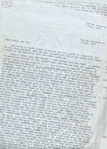 Original letters written by James Hogg, Florence, November 1966
