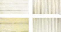 Agnes Martin, Untitled (set of 4), 1998 detail