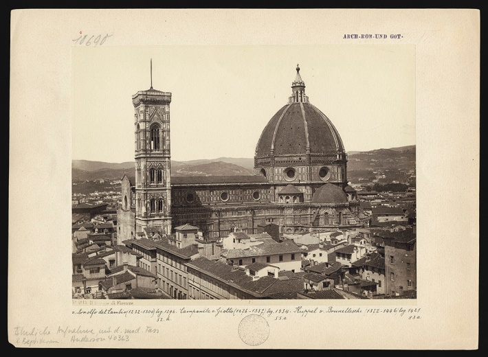 View of the Cathedral from the southwest, photo: Giorgio Sommer, circa 1870, albumen print 18.3 x 24.3 cm, inv. no. 10690