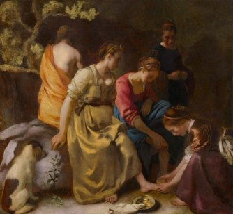 Jan Vermeer, Diana and Her Nymphs, 1653-1654 circa