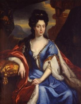 Anna Maria Luisa de' Medici painted by Jan van Douven