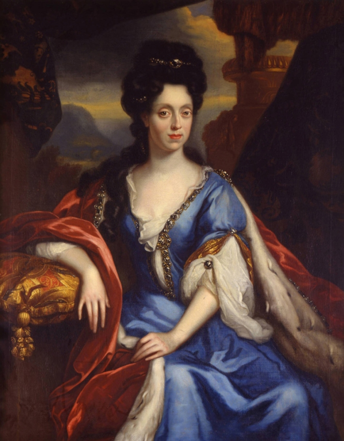Anna Maria Luisa de' Medici painted by Jan van Douven