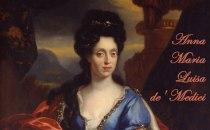 Anna Maria Luisa de' Medici painted by Jan van Douven (detail)