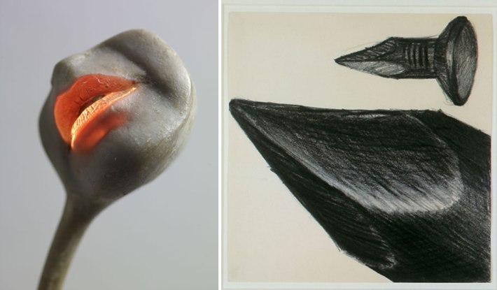 "Alina Szapocznikow,  ""Lampe‐bouche"", 1966 ‐1968 and Lee Lozano,  ""Untitled"", 1964"