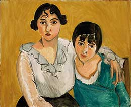 """Matisse, """"The Two Sisters,"""" 1917, Oil on canvas, 61 x 74, Denver Art Museum"""