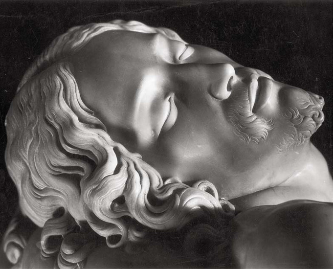 "Renato Sansaini, ""Michelangelo, ""La Pietà (detail), located in the Basilica di San Pietro, photo from c.1940, silver gelatine print from the Ferruccio Malandrin Colletion, Florence"