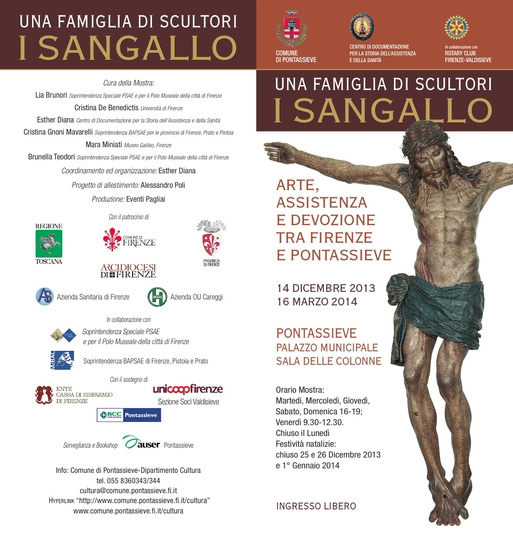 """Una Famiglia di Scultori: I Sangallo"" exhibit at the Palazo Municipale in Pontassieve"