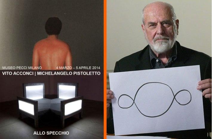 Vito Acconci – Michelangelo Pistoletto. Allo Specchio