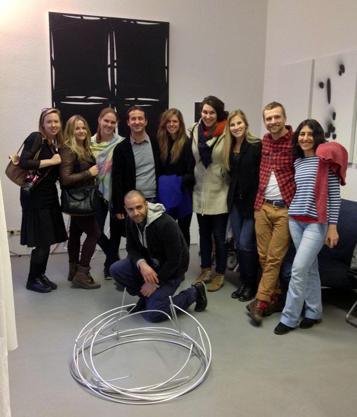 SACI MFA students with Antonio Catelani on a studio visit in Berlin / photo courtesy of Karen Yurkovich