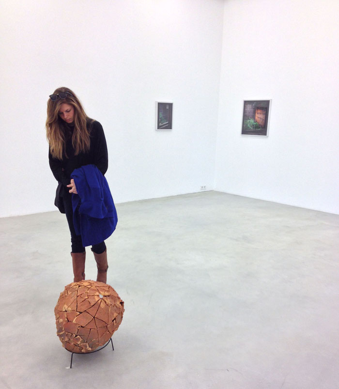 Christina Gednalske visiting a private gallery in Berlin / photo courtesy of Karen Yurkovich