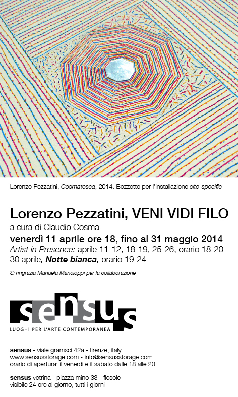 Lorenzo Pezzatini exhibition at Sensus