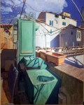 Albert Choi, Ventilator on the Roof, oil on canvas