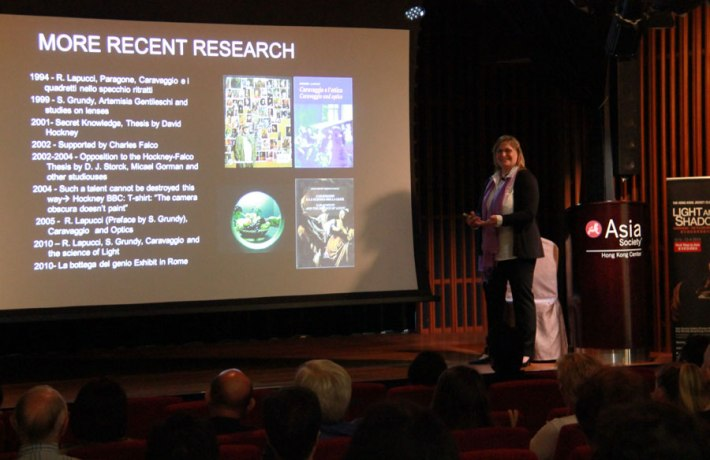 Dr. Roberta Lapucci at the Asia Society in Hong Kong
