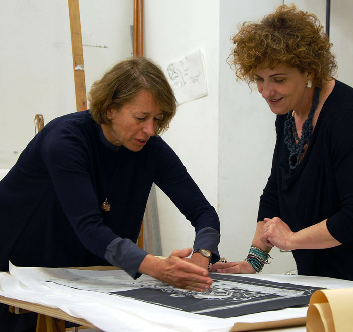 2D Jurors Lucy Jochamowitz and Mirella Ferrari