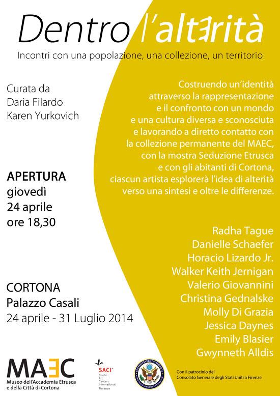 """""""Dentro L'Alterità"""" SACI MFA Spring 2014 Exhibition"""