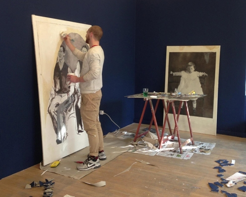 Walker Keith Jernigan in residence at Boccanera Gallery - Work in progress