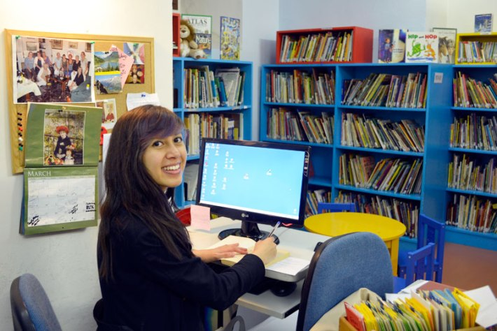 Nicole Kimberly Price at the Children's Lending Library, Florence