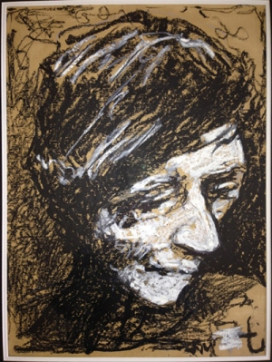 """""""Scribble Head"""" drawing by Thurloe Conolly"""