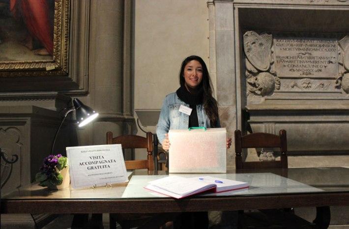 Taylor Healy at Santa Maria Novella, Florence