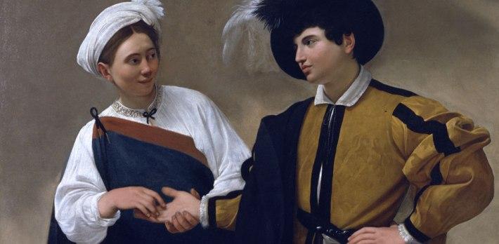 Caravaggio, The Fortune Teller (about 1594–95), oil on canvas. Musei Capitolini Pinocateca, Rome
