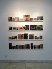 "Dejan Atanackovic, German Lessons 2010-2014, video works: Kennen Sie Ihre Familie?, 14'30"" , Imre, 11'29"", Untitled, (loop), 30 photo objects (inkjet prints on wood, total size aprox.150x150)"