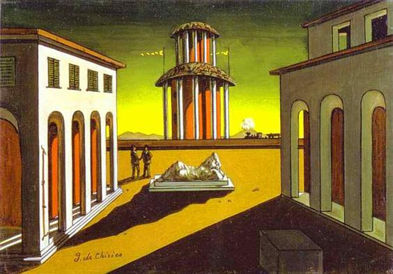 """Giorgio de Chirico, """"Piazza d'Italia"""""""