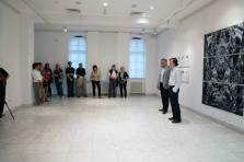 Something Like a Mirror, opening of the exhibition