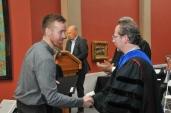 Ryan receiving his MFA from PAFA
