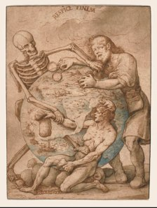 "Jacopo Ligozzi, ""Respice Finem,"" pen, ink, and natural pigments on paper"