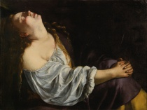 "ARTEMISIA GENTILESCHI, ""Mary Magdalene in Ecstacy"", oil on canvas, 81 x 105 cm, circa 1613-1620"