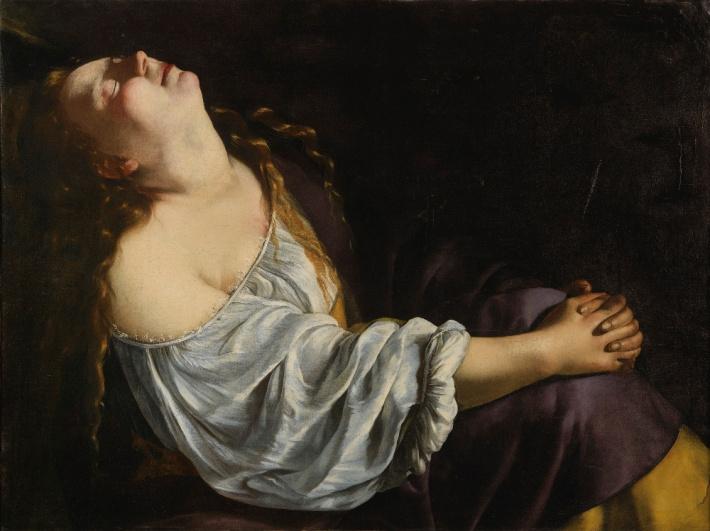 "ARTEMISIA GENTILESCHI, ""Mary Magdalene in Ecstacy"", oil on canvas, 81 x 105 cm, circa 1613-1620"
