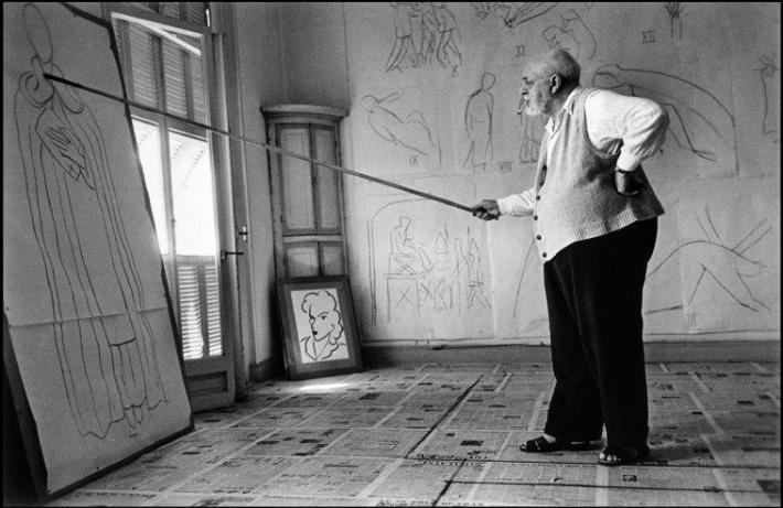 Robert_Capa, Henri Matisse in his studio, near Nice, France, August 1949 © Robert Capa - International Center of Photography - Magnum Photos