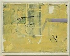 "Ryan Ward, ""Untitled"", acrylic, collage on panel, 12x16"""