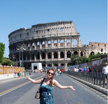 Elizabeth Jaszczak at the Colosseum, Rome