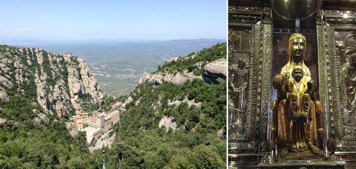 Monastery in Montserrat and the Virgin