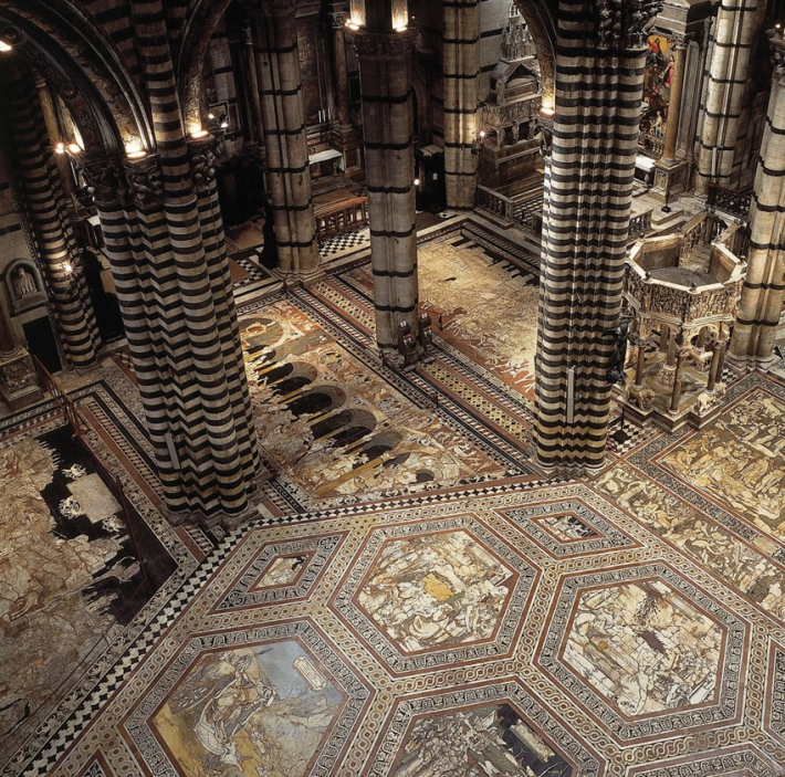 Interior view of the Cathedral (Duomo) of Siena