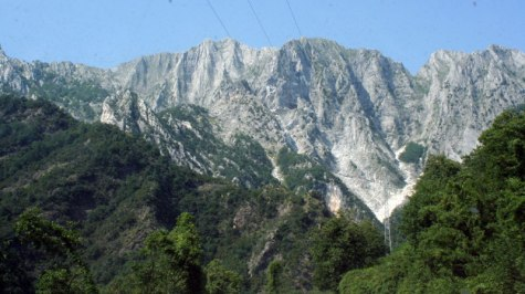 The Apuan Alps around Pietrasanta (Tuscany)