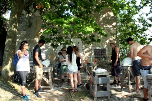 SACI Summer 2014 Sculpture class in Pietrasanta