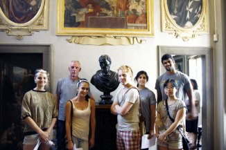 SACI Summer 2014 Sculpture class with Instructor John Taylor