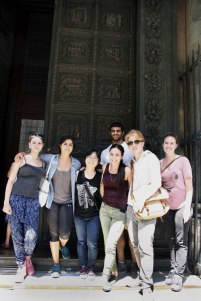 SACI Summer 2014 Sculpture class in front of the Baptistery Doors in Florence